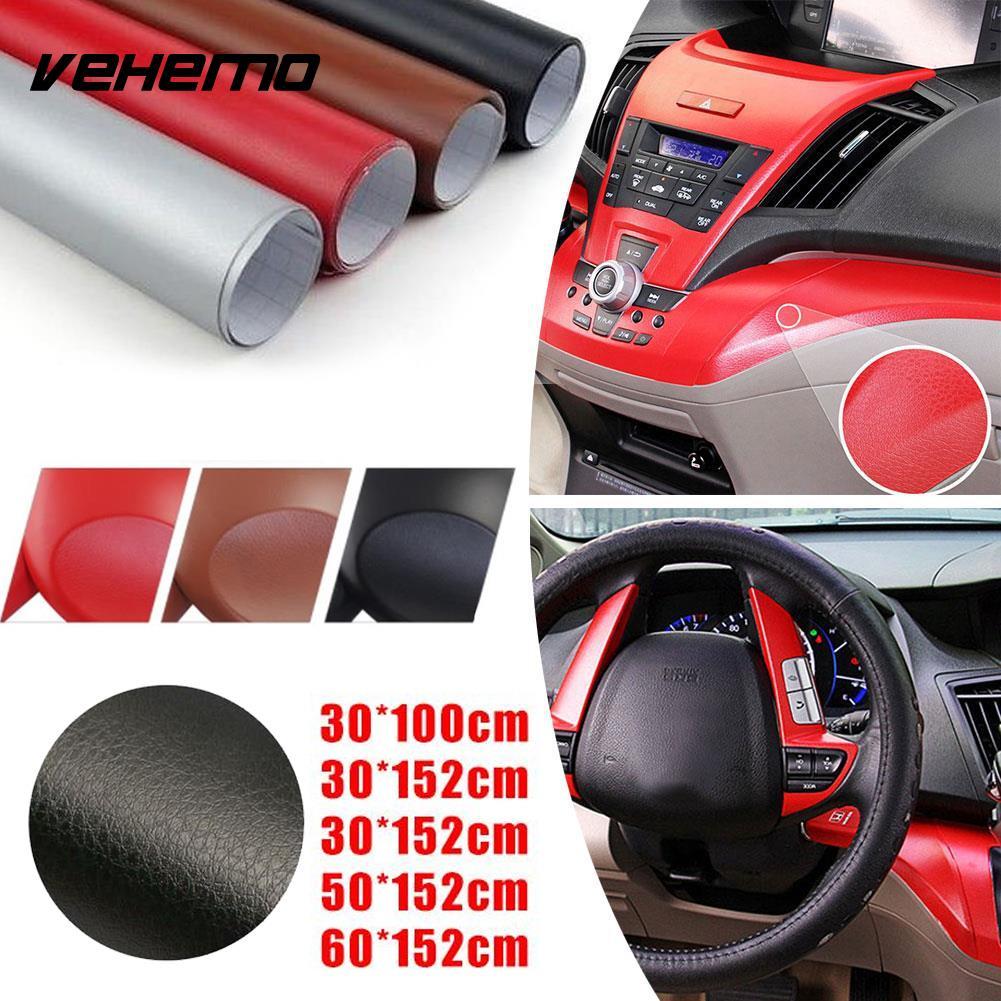 Auto Car Interior Textured Sticker Color Change Film Adhesive Decor 20x152CM DIY