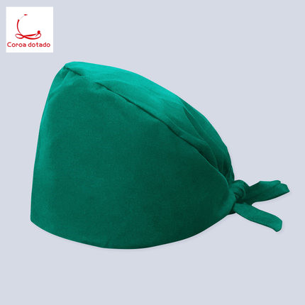 Doctor printed hat mask for men and women operating room working cap nurse