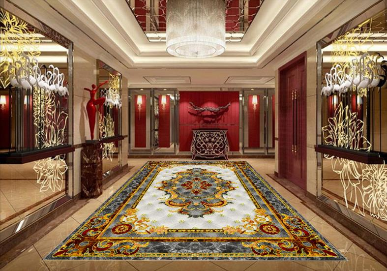 3d flooring Marble parquet photo wallpaper for living room Carpet polishing crystal parquet 3d floor painting 3d flooring european style carpet floor painting 3d wallpaper pvc 3d floor painting wallpaper