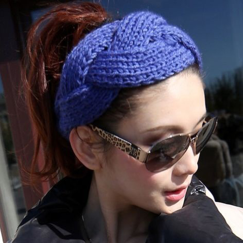 1Pcs Beauty Fashion Crochet Knit Head Band Ear Warmer Headwear Twist Braid Knitted Elastic Hair Turban Hair Styling Accessories