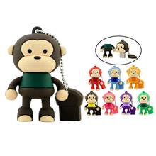 Hot Sale Cartoon Cute Monkey USB Flash Drive Pendrive 4GB 8GB 16GB 32GB USB Stick External Memory Storage Pen Drive cute gift