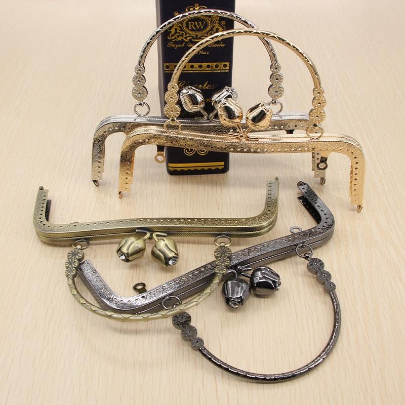 1 pcs Size 20 CM Metal Flower Kiss-lock Sewing Metal Purse Frame Bag Hanger Handle China Online Shop DIY Bag Parts Purse Frame