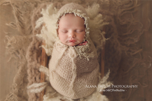 Mohair Stretch wrap,newborn lace wrap with matching hat set,outfit stretchable super fluffy,newborn soft mohair blanket