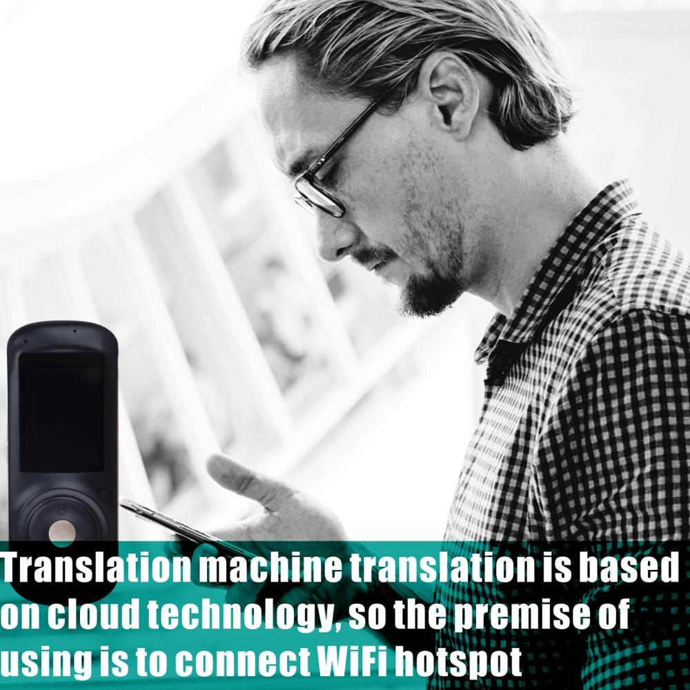 Voice translator 82 Languages English Japanese Korean French Russian German Chinese Spanish translation Travel translator black