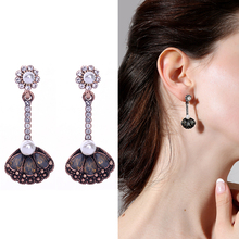 Earrings Jewelry-Accessory Vintage Luxury Crystal Classical Women for Wholesale Wing-Shape