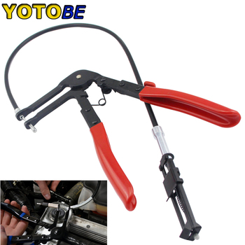 цена на Auto Vehicle Repair Tools Cable Type Flexible Wire Long Reach Hose Clamp Pliers Tools