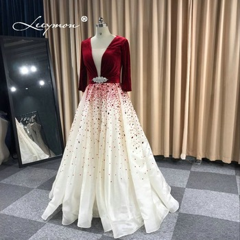 Leeymon Free Shipping 2019 Evening Dress Luxury Long Sequins Beading Evening  Gown Robe De Soiree Longue Real Pictures-in Evening Dresses from Weddings  ... b8954901eb26