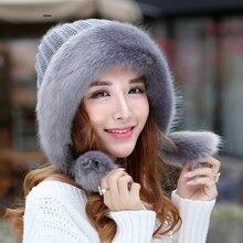 Kagenmo на холодные зимы, раздел-Для женщин шапка-ушанка супер теплые толстые женские модные береты теплая шапка повязка для волос с пушистыми помпонами милый леди Кепки