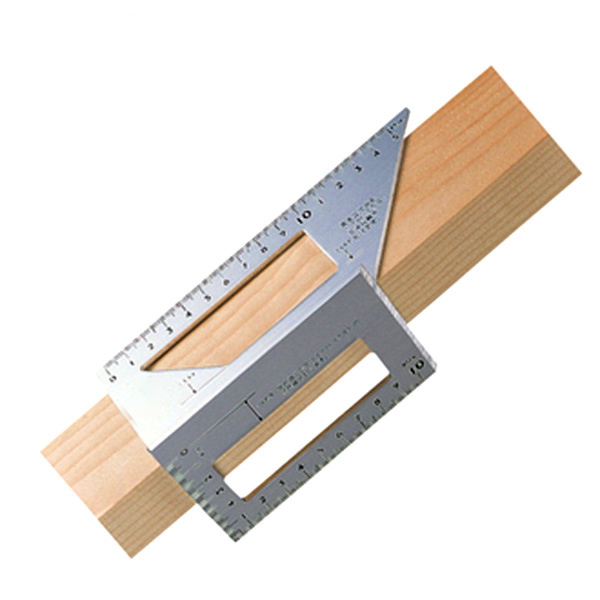 Good Quality Japanese Aluminum Alloy Woodworking Multifunctional Square 45 Degrees 90 Degrees Gauge