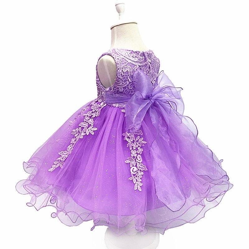 Flower Girls Dresses Children Sleeveless Lace Cotton Lining Party Dress Kids Wedding Birthday Ball Gown Gift