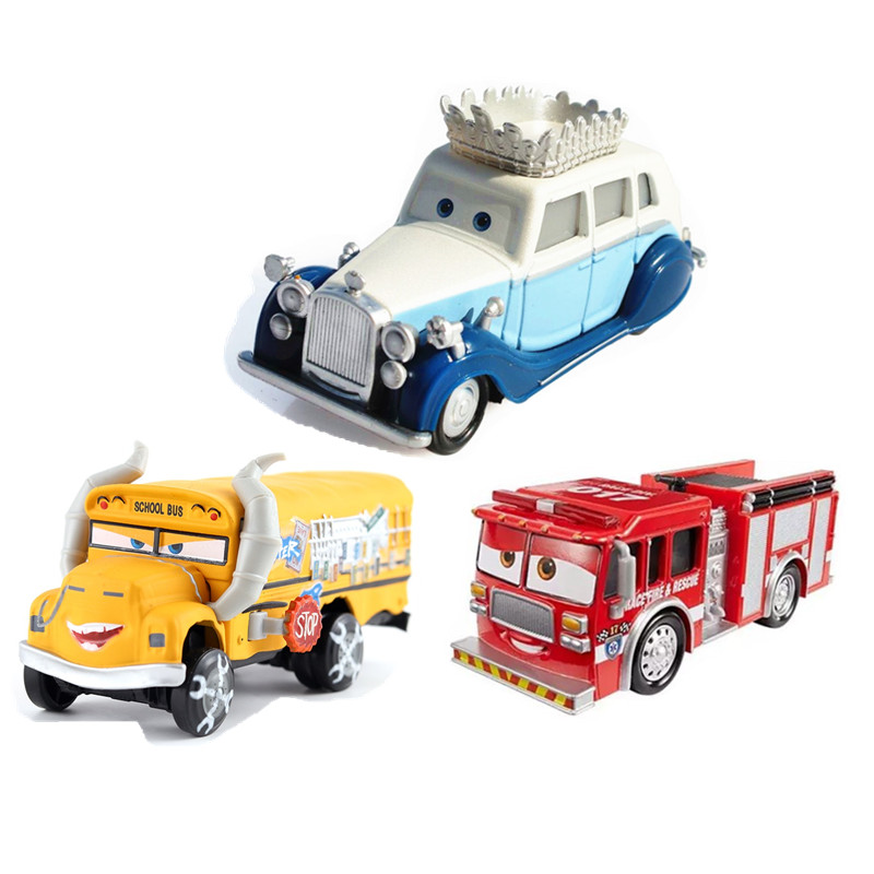 New Disney Pixar Car 3 Truck Uncle Queen Of England Miss Fritra Mires 1:55 Die Cast Metal Alloy Model Toy Car Children's Gifts