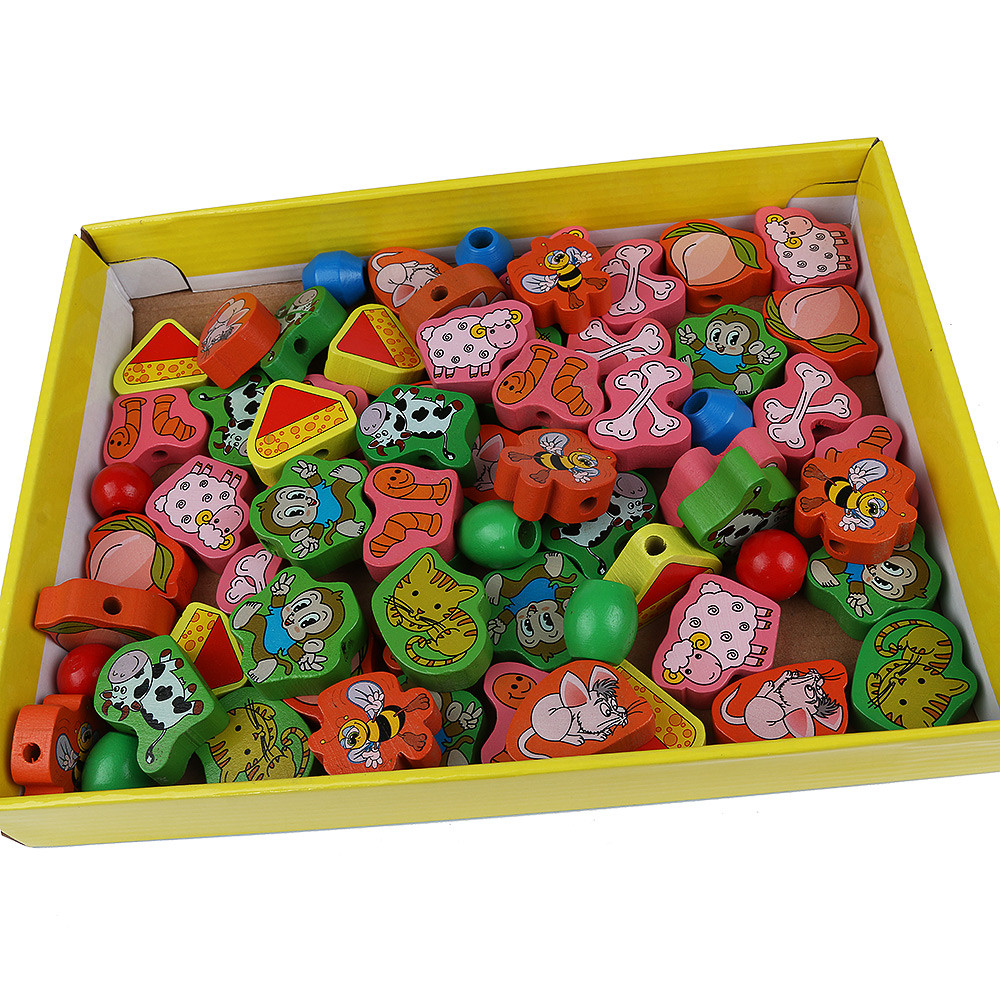 Kids Animal Bead Game Early Childhood Learning Education Wooden Toys ...
