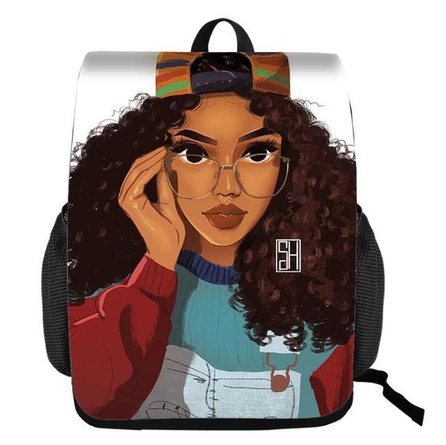 Black Queen African American Girl School Bags for Teenagers  4