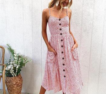 ec08f4a979ac5 Lossky Women Dresses Striped Summer Dress Ruffle Collar Bandage ...