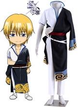 Free Shipping Gintama Silver Soul Sakata Kintoki Kimono Anime Cosplay Costumes