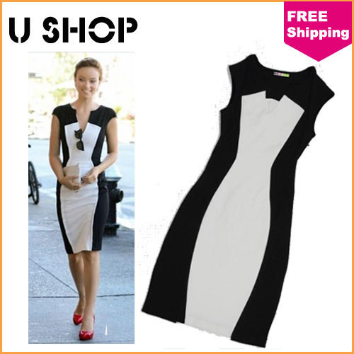 99a284eda749 Wholesale 2014 Fashion Designer Summer Spring Clothing omen Casual Bodycon  Office Wear Dresses Sexy Sleeveless Dress Plus Size