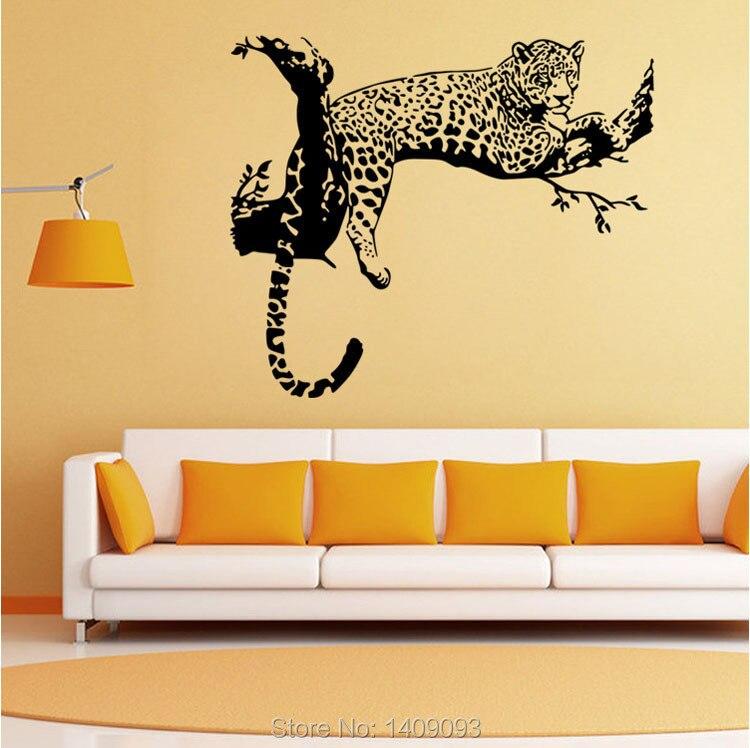 Fashion Wall Decoration Living Room 3d Wall Sticker Animal Vivid ...