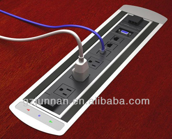 V Electric Tabletop Socket Pop Up For Conference Table On - Conference table electrical box