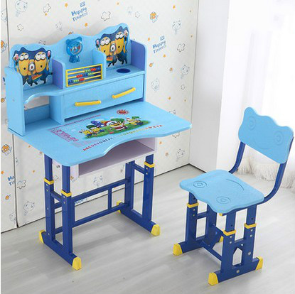 Children's furniture suit children writing desk children learning table book desk and chair can adjust elevator купить