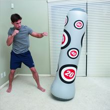 Training Fitness Boxing Punching Bag Inflatable Aerated Irrigation Sand Family Store Entertainment Vent Fight Ground Sandbag