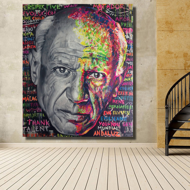 Kunst Modern hdartisan portrait of picasso founder of modern home decor