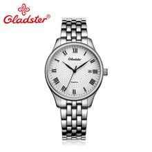 3a805884e Gladster الفاخرة ساعة يابانية 2315 الأعمال الرجال ووتش عارضة الازياء  الكوارتز ساعة اليد الياقوت الكريستال الفولاذ