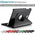 360 Вращающийся ИСКУССТВЕННАЯ Кожа funda обложка чехол для Samsung Galaxy Tab 10.1 2016 SM-T580 SM-T585 Tablet cover case