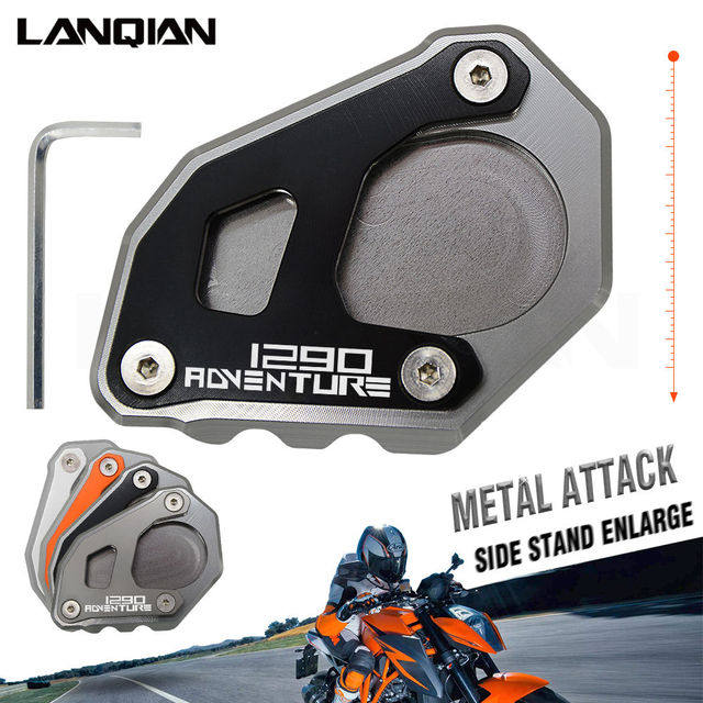 For KTM 1290 Super Adventure R Motorcycle Kickstand Side Stand Plate Pad Enlarge Extension For KTM & For KTM 1290 Super Adventure R Motorcycle Kickstand Side Stand Plate ...