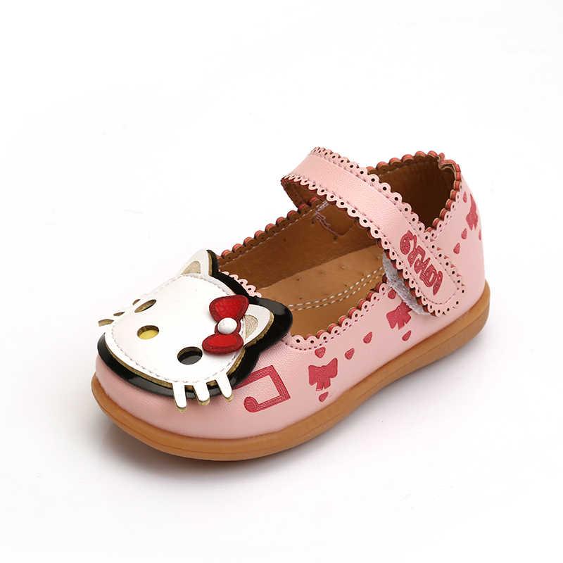 01a18ffb6 KINE PANDA Hello Kitty Little Girls Shoes Baby Girl Shoes Kindergarten Kids  Shoes for Girl Princess