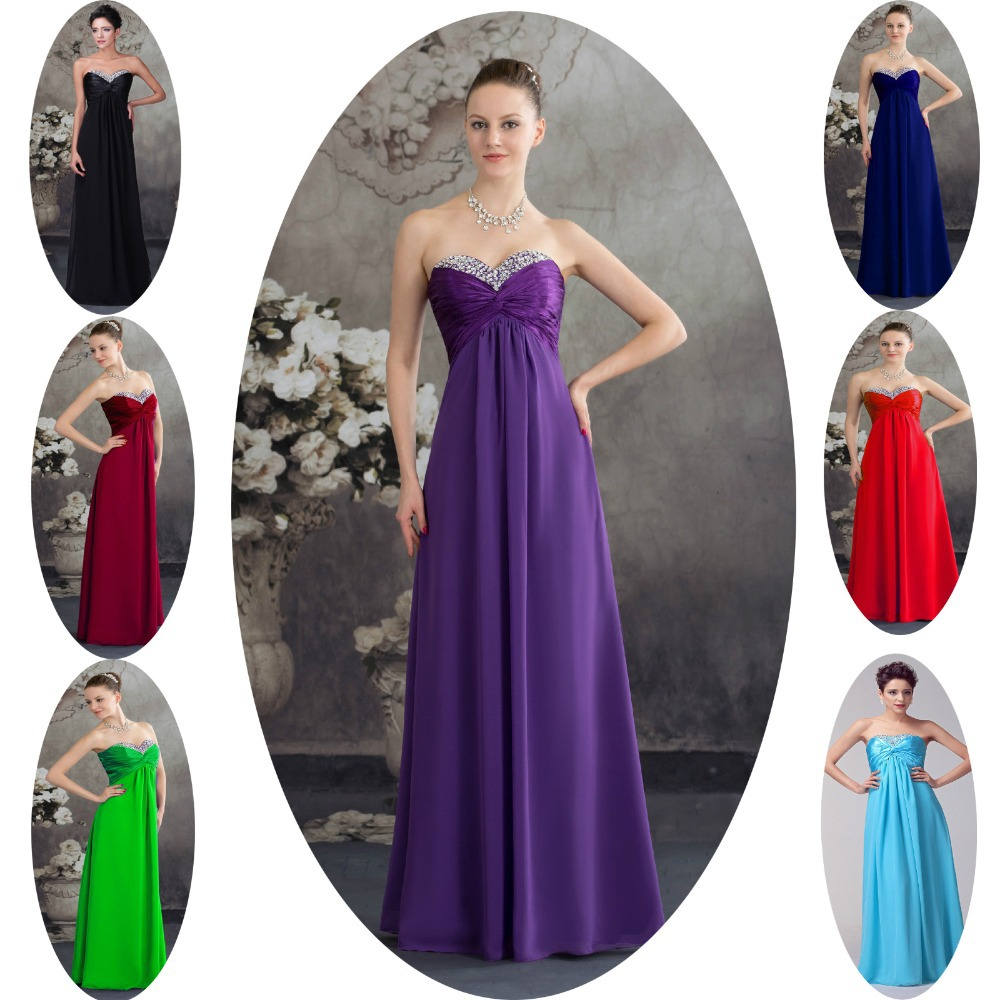Popular purple long chiffon bridesmaid dresses buy cheap purple 2015 black blue burgundy red green purple chiffon cheap bridesmaid dresses under 50 prom long vestido ombrellifo Images
