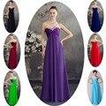 Azul borgonha verde roxo dama De honra vestidos De Chiffon 50 Prom Vestido longo De Festa