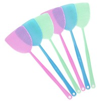 6 Pcs Plastic Fly Swatter long handle Manual fly killer Swat Pest Control with Long Handle Assorted Sweet Colors pest control
