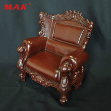 Figure Accessory Retro Furniture 1:6 KUMIK AC-5 PVC Single Sofa Armchair Leather Sling Chair Couch Model Toys Collection Gift(China)