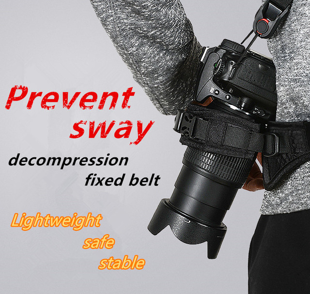 Décompression rapide rapide DSLR reflex appareil photo ceinture ceinture photographie sangle réglable vélo extérieur pour Canon Nikon Sony Pentax