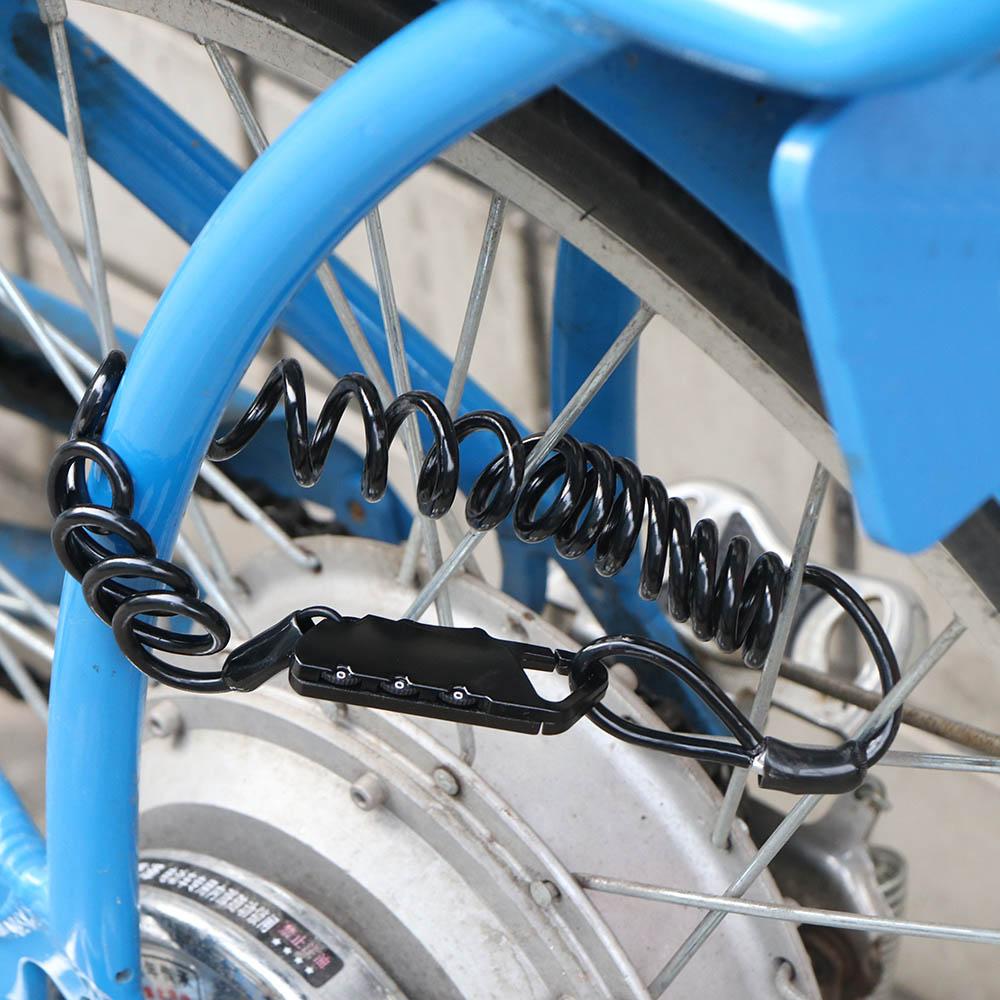 Блокировка паролем U блокировка Противоугонный пароль для комбинированных велосипедов, мотоциклов, детские коляски, уличная безопасность, стальная проволока, кодовый замок