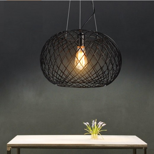 Nordic Loft Style Iron Net Droplight Edison Vintage Pendant Light Fixtures For Dining Room Industrial Lamp Lamparas Colgantes loft style droplight edison pendant light fixtures for dining room vintage industrial lighting hanging lamp lamparas colgantes