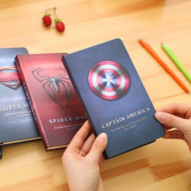 Блокнот Эмблемы Супергероев марвел и ds comics 3