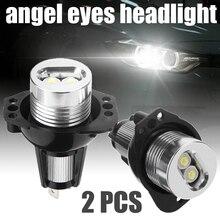 2pcs/set Ultra-Bright Car Angel Eyes LED Headlight 10W 12V Halo Ring Light Bulb For BMW E90 E91 3 Series