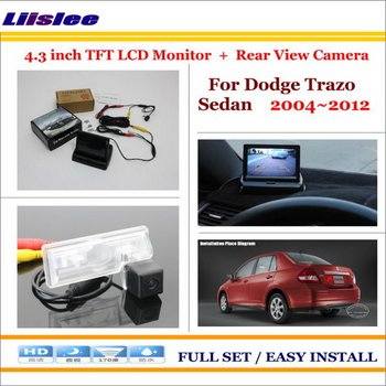 """Liislee For Dodge Trazo Sedan 2004~2012 Car Rearview Camera + 4.3"""" LCD Screen Monitor = 2 in 1 Parking Assistance System"""