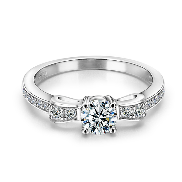 CZ Nice Jewelry Women Silver Color Rings With 925 Stamp Elegant Wedding Engagement Bague For Lady Bijoux