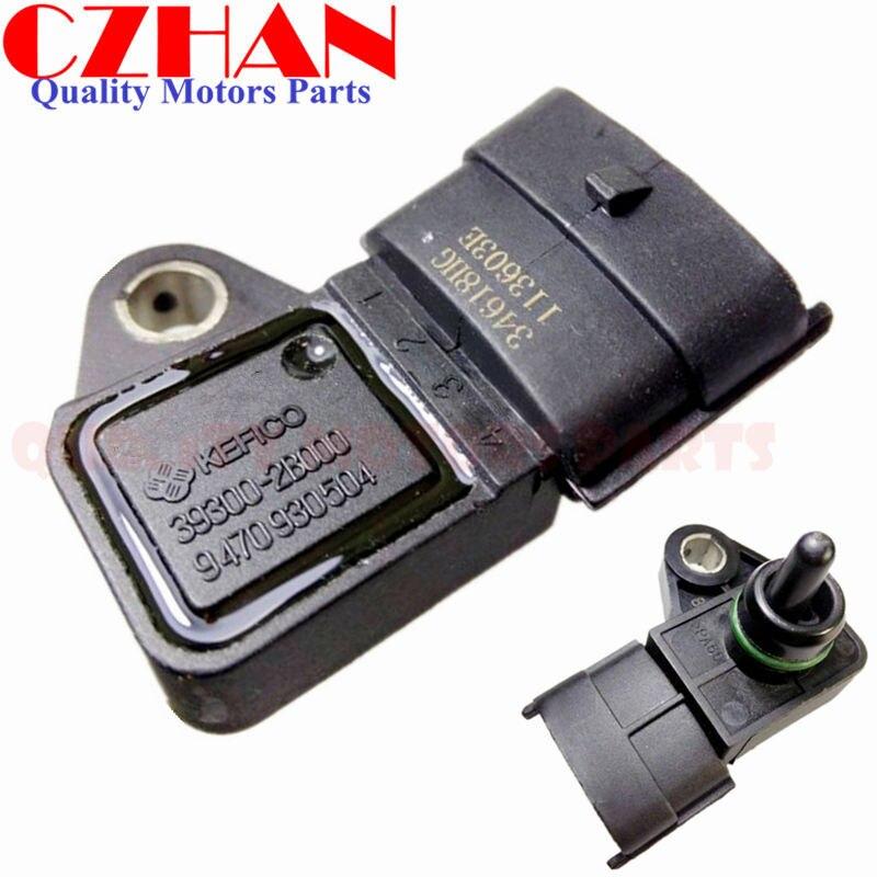 X AUTOHAUX Car Manifold Intake Air Absolute Pressure MAP Sensor 393002B000 for Hyundai Accent Santa Kia Forte Sportage