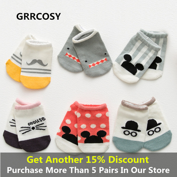 GRRCOSY Baby Toddler Socks  Infant Anti-slip novelty socks Cartoon animal Newborn Cotton Baby socks floor socks Boy Girls Cute