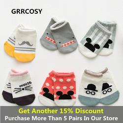GRRCOSY детские носки для малышей Детские противоскользящие Новинка Носки мультфильм животных хлопоковый для новорожденных малышей Носки