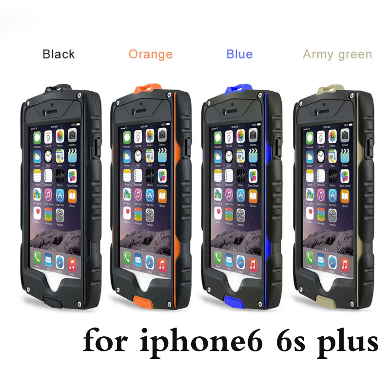 Цена за Водонепроницаемый противоударный Броня Чехол Для iPhone 6 6 s plus Heavy Duty Протектор Экрана Всего Тела Защитная Для iPhone 6 крышка