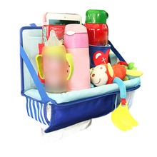 Car Seat Back Hanging Storage Bag Multi-Pocket Food Phone Organizer Tissue Box Cover Stowing Tidying Accessories Supplies