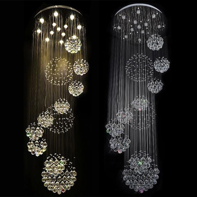 Modern semiflush mount 35w led crystal chandelier ceiling d80h300cm chandeliers crystal warm whitecool white light fixtures in chandeliers from modern semiflush mount 35w led crystal chandelier ceiling d80h300cm chandeliers crystal warm whitecool white li Images