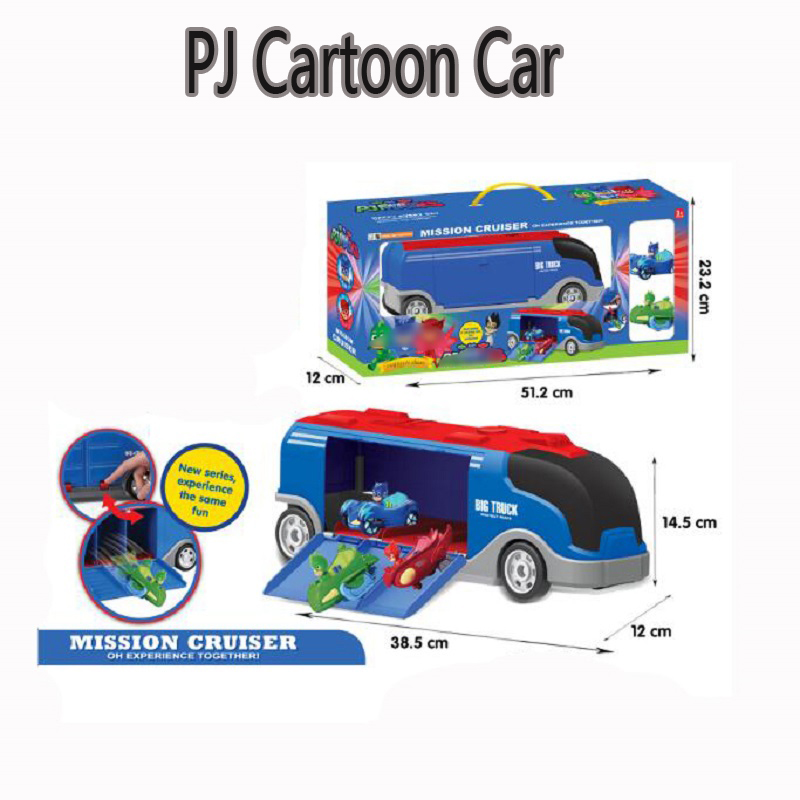 PJ Anime Mask Mission Cruiser Toy Cartoon Les Pyjamasques Racing Car&Truck Display Jouet Children Christmas Gift Toy les enfants pj racing mission cruiser car dessin maskmm toy anime pj car big truck display jouet children bithday gift toys
