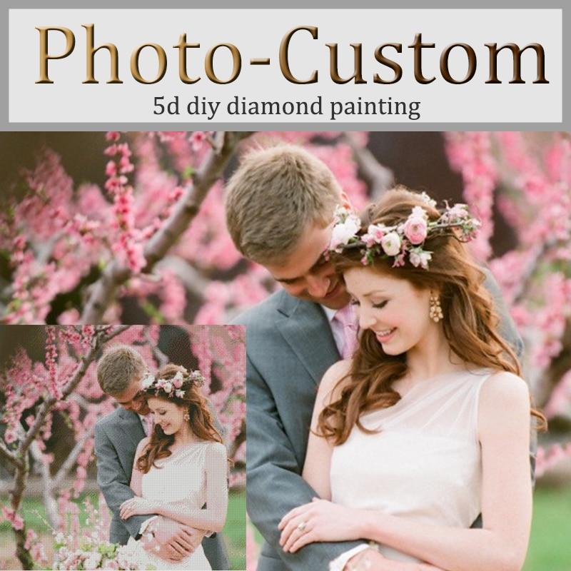 Photo personalizzato! personalizzato Privata! ricamo Diamante DIY 5D diamante Pittura A Punto Croce 3D Strass quadrato mosaico decorazione regalo