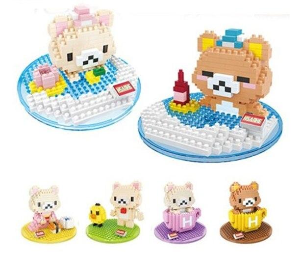 Microparticles small bricks spa easily bear easily bear mug bear sushi scene