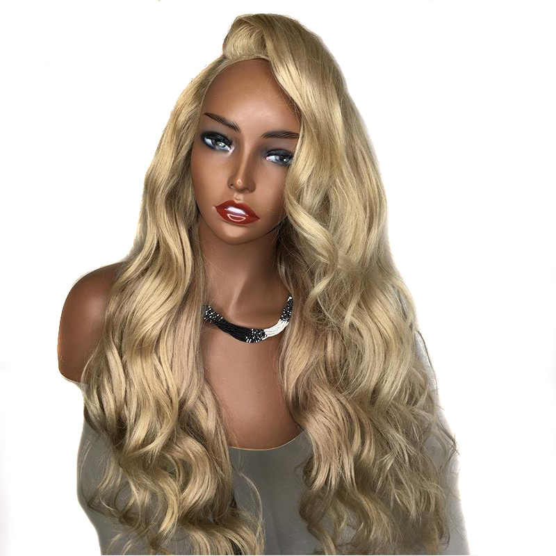 Pre Plucked Ash Blonde Lace Front Wig Human Hair With Baby Hair Brazilian Remy Wavy Transparent